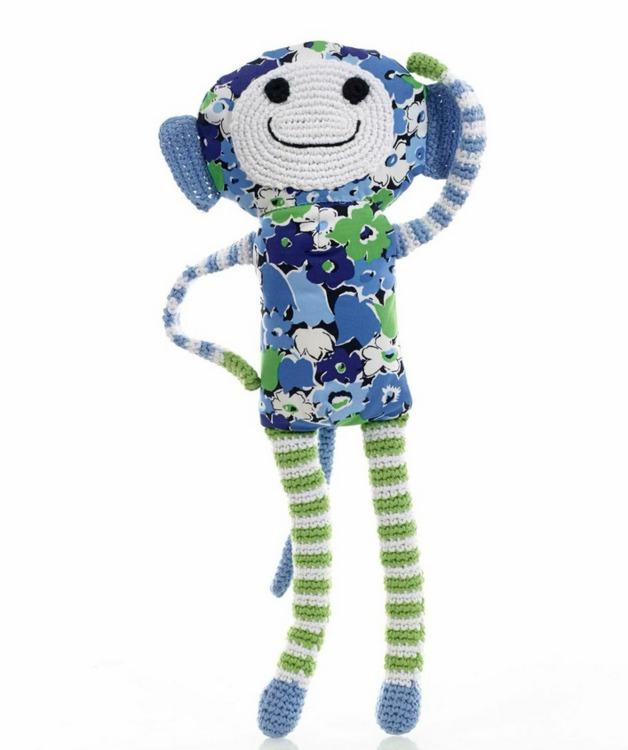 Pebble Blue Flower Monkey