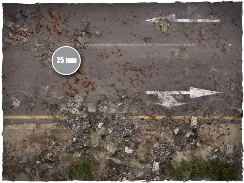 DeepCut Studio Walking Dead City Tiles (6pcs 2x2) image