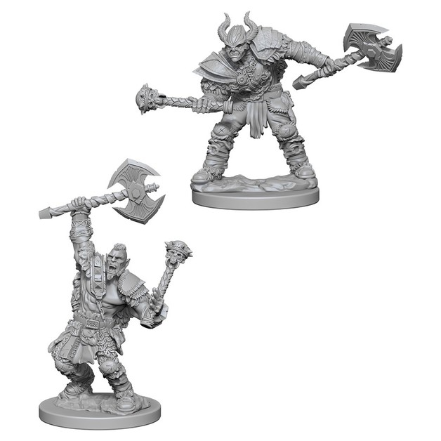 Pathfinder Deep Cuts: Unpainted Miniatures - Half-Orc Male Barbarian