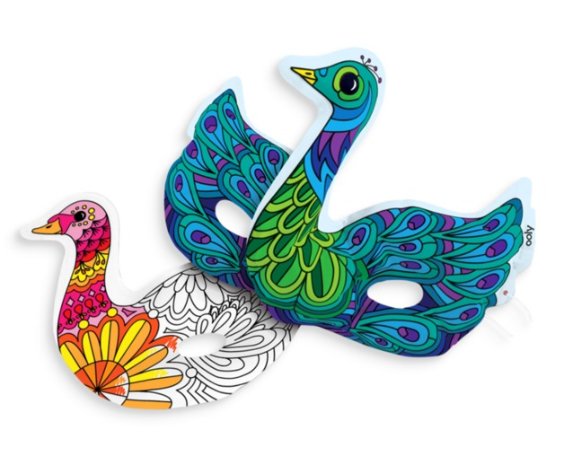 Ooly: 3D Colorables Activity Kit - Beautiful Birds Masks