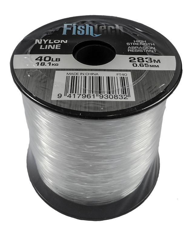 Fishtech 1/4 Pound Nylon Spool 40lb 283m