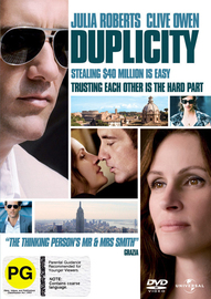 Duplicity on DVD