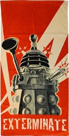Doctor Who Dalek Exterminate Beach Towel