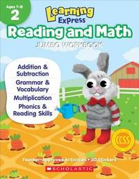 Learning Express Reading and Math Jumbo Workbook Grade 2 by Scholastic Teaching Resources image