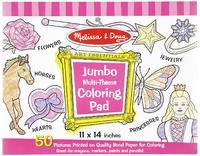 Melissa & Doug: Jumbo Colouring Pad Pink image
