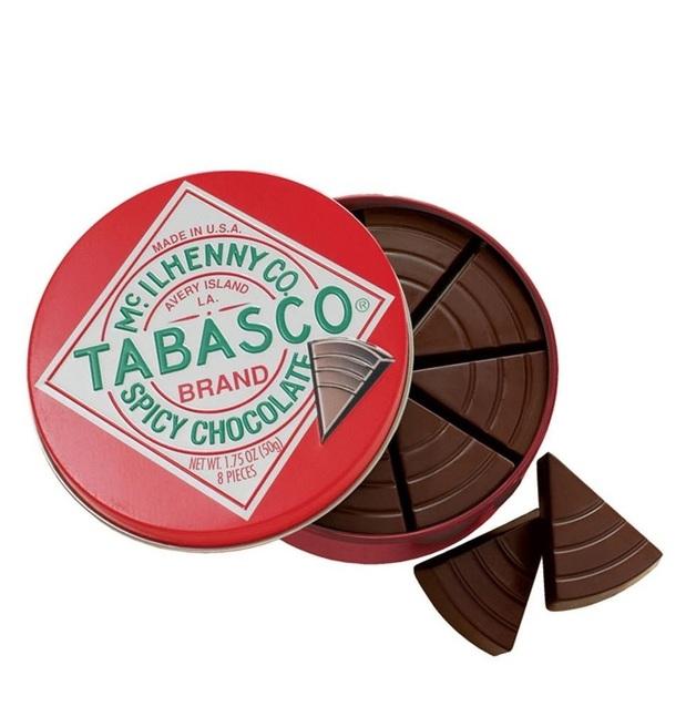 Tabasco Spicy Chocolate Wedges Tin 50g