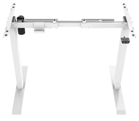 Gorilla Office: 2-Stage Motorised Height Adjustable Desk - White/White (1400 x 700mm)