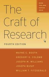 The Craft of Research by Wayne C Booth image