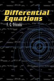 Differential Equations by F.G. Tricomi