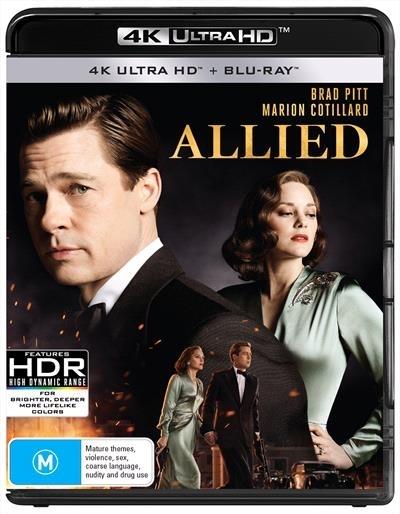 Allied on Blu-ray, UHD Blu-ray