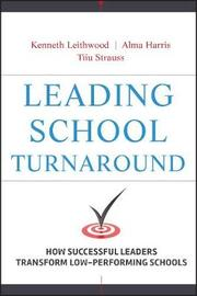 Leading School Turnaround by Kenneth Leithwood image