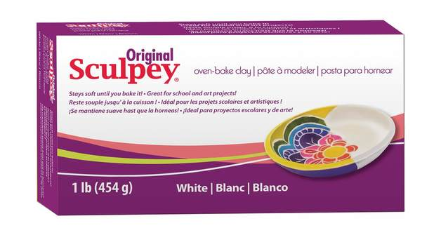 Sculpey Original Oven-Bake Clay - White (454g)
