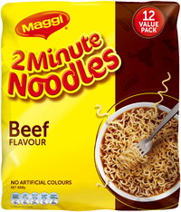Maggi 2-Minute Noodles - Beef (12 Pack)
