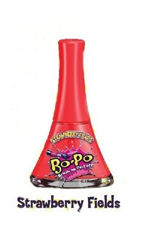 Bo-Po Scented Peel Off Nail Colour (Strawberry Fields/Red) image
