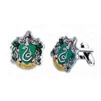 Harry Potter: Silver Plated Slytherin Crest Cufflinks