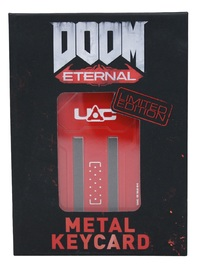 Doom: Red Key Card - Metal Replica