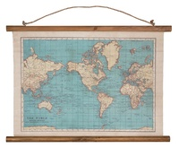 Vintage Map - Wall Hanging Canvas Print