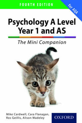 The Complete Companions: A Level Year 1 and AS Psychology: The Mini Companion for AQA by Mike Cardwell image