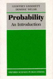 Probability by Geoffrey Grimmett image