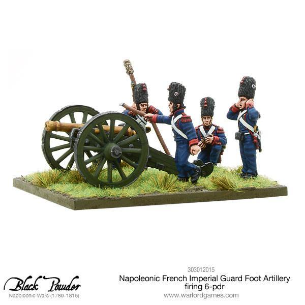 Napoleonic French Imperial Guard Foot Artillery 6 pdr image