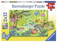 Ravensburger : Animals in Our Garden Puzzle 2x12pc