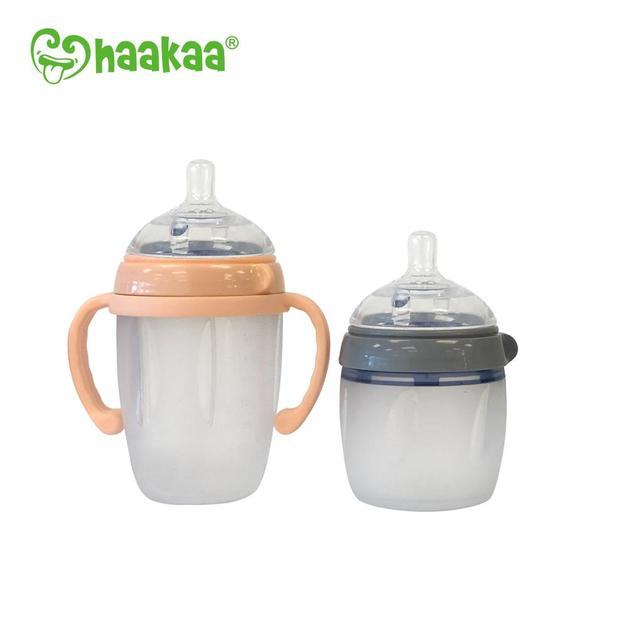 Haakaa: Silicone Baby Bottle - Nude (250ml)