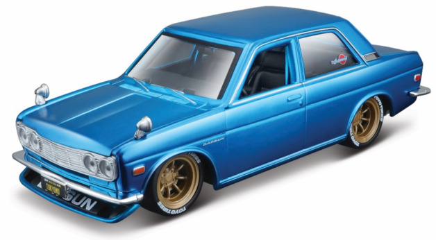 Maisto: 1:24 Die-Cast Vehicle - 1971 Datsun 510 (Metallic Blue)