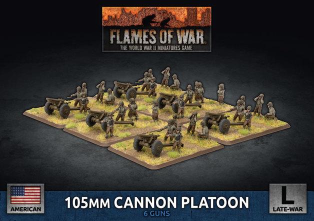 Flames of War: 105mm Cannon Platoon - (Plastic)