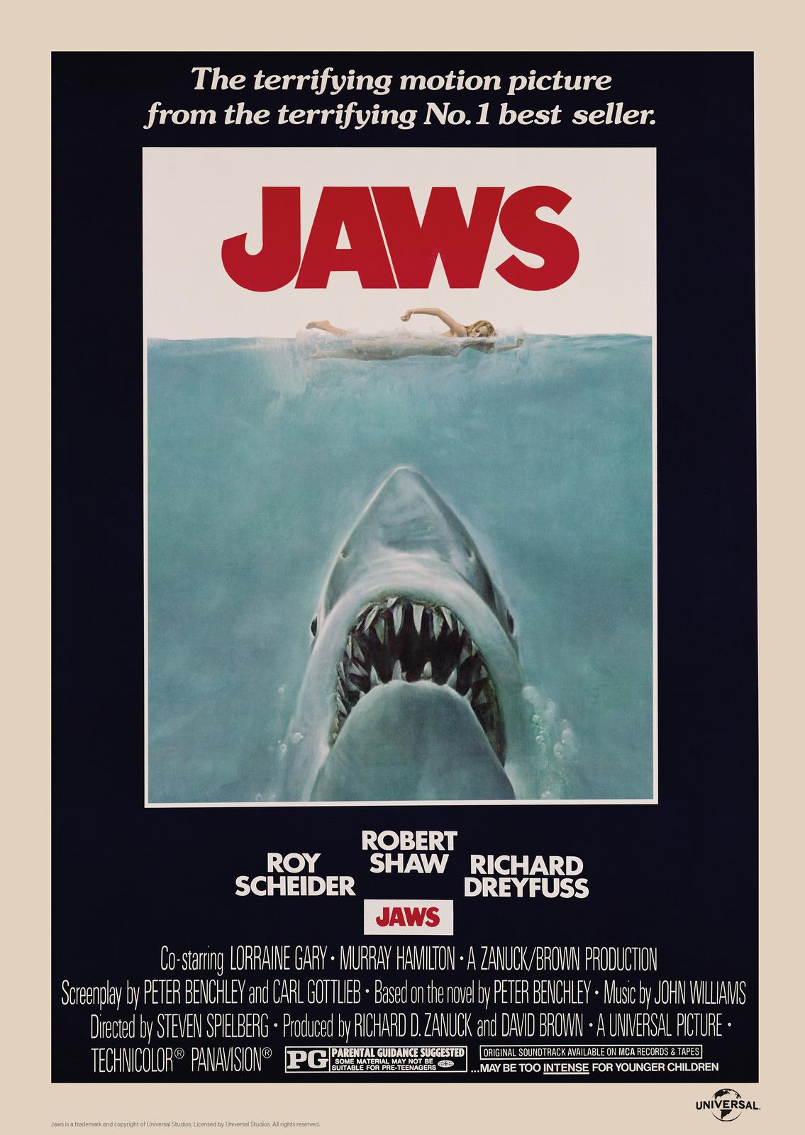 Jaws: Premium Art Print - Classic Poster image