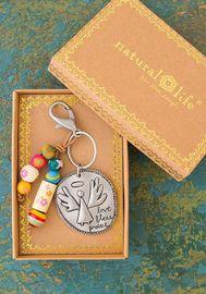 Natural Life: Santa Fe Keychain - Angel Love Bless