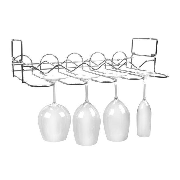 Vinology Under Cabinet Bottle and Glass Rack