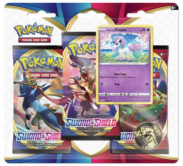 Pokemon TCG: Sword and Shield Three Booster Blister- Ponyta