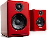 Audioengine: 2+ Powered Desktop Speakers (Pair) - Hi-Gloss Red