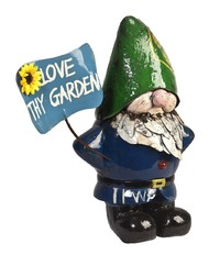 Larry the Gnome - Love Thy Garden Sign