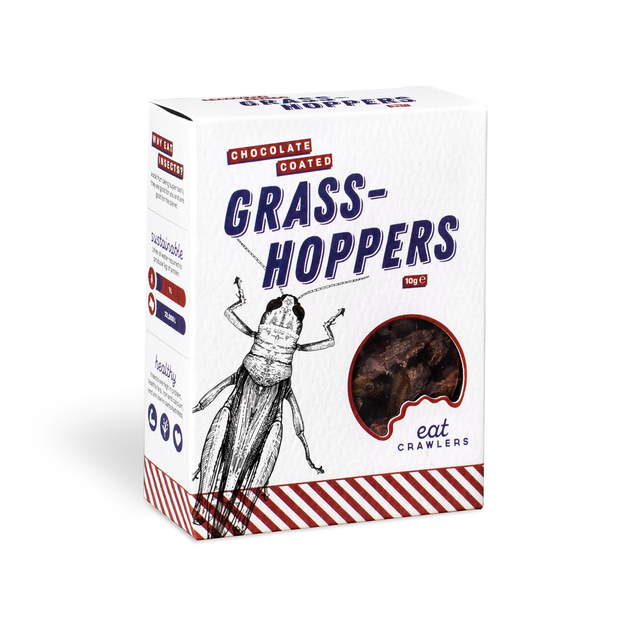 Eat Crawlers: Chocolate Coated Grasshoppers (10g)