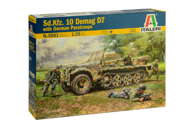 Italeri 1/35 SDKFZ Demag 7 W/Paratroopers - Model Kit