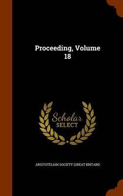 Proceeding, Volume 18 image