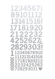 Kaisercraft: Number Stickers - Metallic Silver