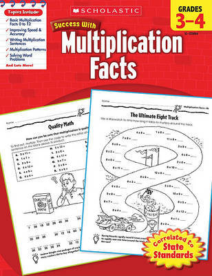 Scholastic Success with Multiplication Facts, Grades 3-4 by William Earl image