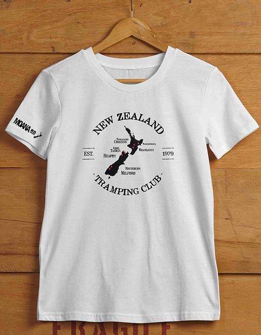 Moana Road: NZ Tramping Unisex Tee Grey- X-Large