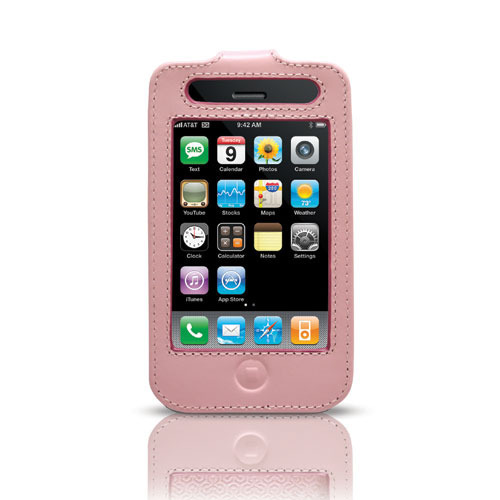 Belkin Pink Leather Sleeve w/ Clip for 3G iPhone