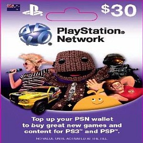 PlayStation Live Card $30 for PS3