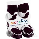 Mocc Ons Designer Moccs - Cow (18-24 months)