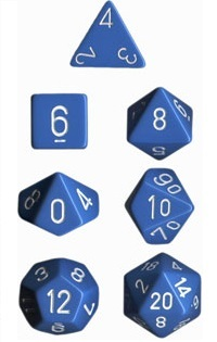 Chessex - Polyhedral Dice Set - Light Blue Opaque