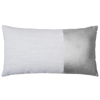 Bambury Block Cushion Cover (Silver)