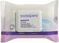 Swisspers Facial Wipes - Unscented (25s)