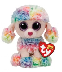 Ty Beanie Boo: Rainbow Poodle Dog - Small Plush