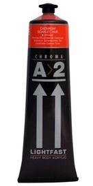 Chroma: A2 Lightfast - Heavy Body Acrylic Paint - Cadmium Scarlet (120ml)