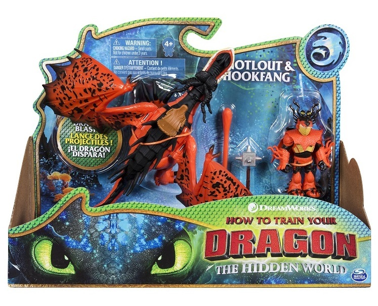 How to Train Your Dragon 3: Snotlout & Hookfang - Dragon & Viking Playset image