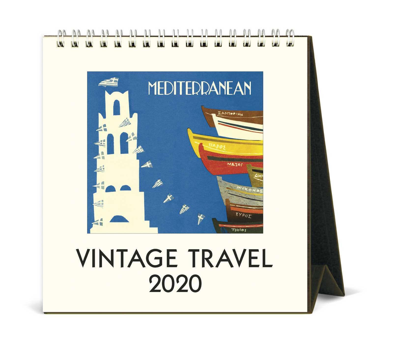 Cavallini Vintage Travel 2020 Desk Calendar image